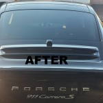 After - Porche window tinting
