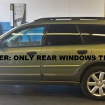 After - Suburu window tinting