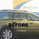 BEFORE - SUBURU window tinting